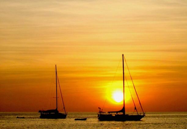 Noche romántica en velero