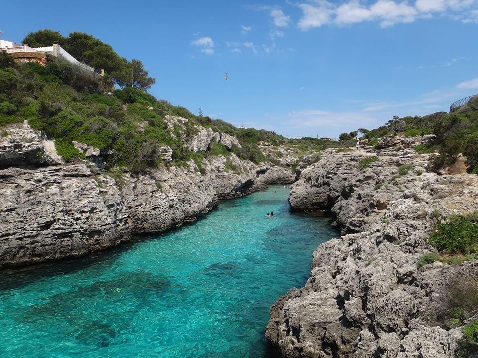Rutas navegar por Menorca