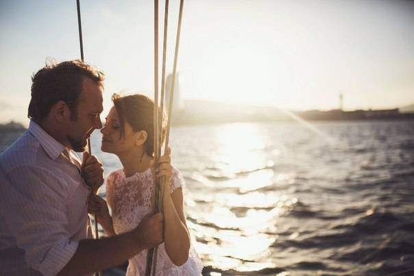 Gold Unforgettable Sailboat Wedding