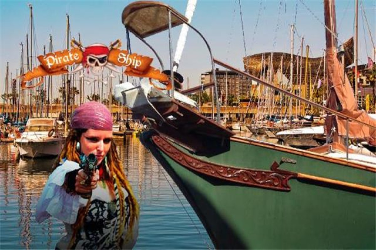 Pirate ship in Barcelona, excursions and children's parties on a pirate ship
